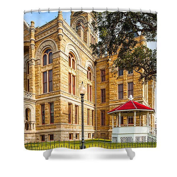 Lavaca County Courthouse - Hallettsville Texas Shower Curtain