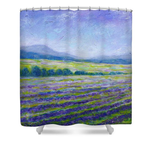 Lavender Field In Provence Shower Curtain