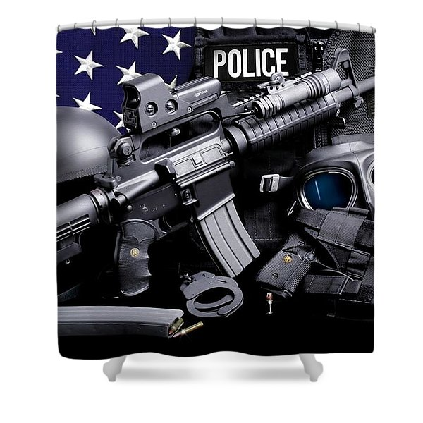 Law Enforcement Tactical Police Shower Curtain