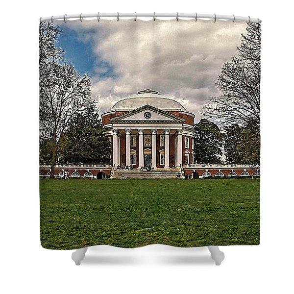 Lawn And Rotunda At University Of Virginia Shower Curtain