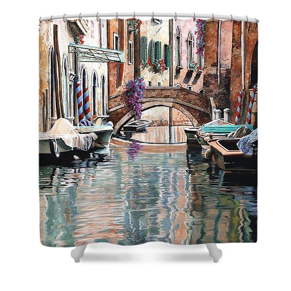 Le Barche E I Pali Colorati Shower Curtain