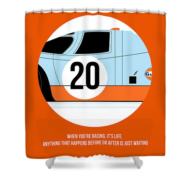 Le Mans Poster 2 Shower Curtain