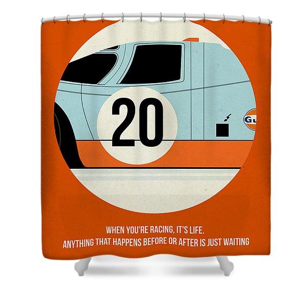 Le Mans Poster Shower Curtain
