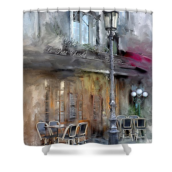 Le Petit Paris Shower Curtain
