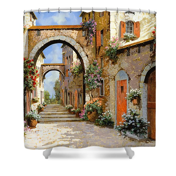 Le Porte Rosse Sulla Strada Shower Curtain