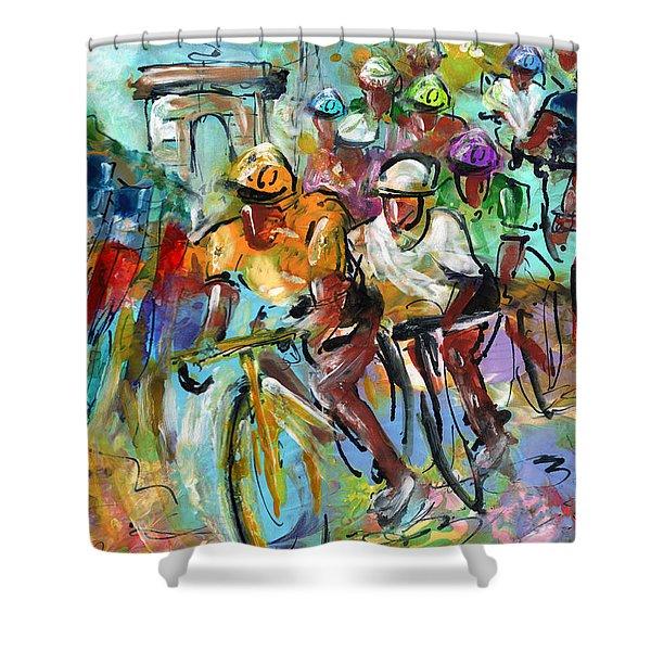 Le Tour De France Madness 02 Shower Curtain