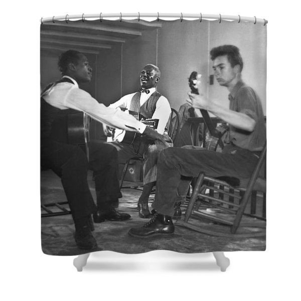 Leadbelly, White, Pete Seeger Shower Curtain