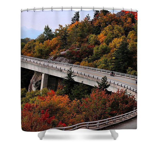 Lean In For A Ride Shower Curtain
