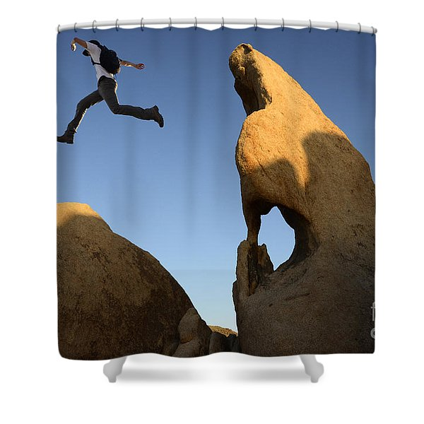 Leap Of Faith Shower Curtain