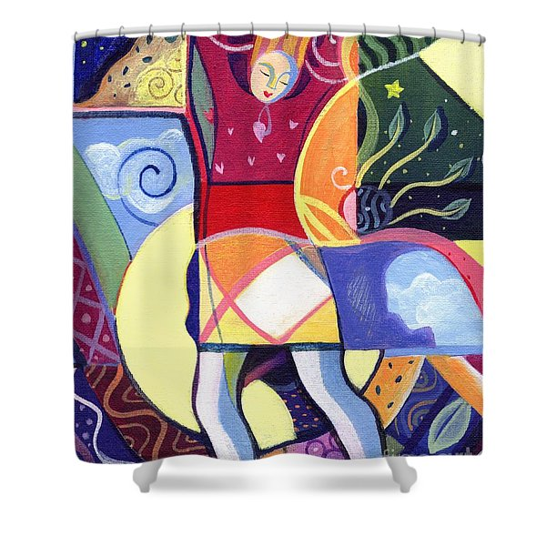 Leaping And Bouncing Shower Curtain