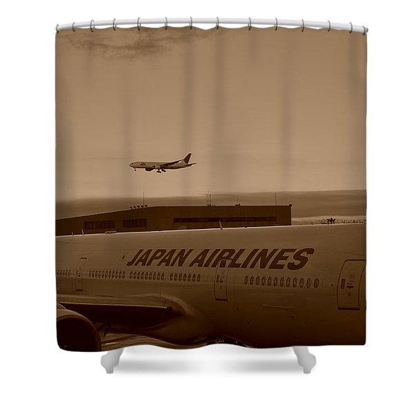 Leaving Japan Shower Curtain