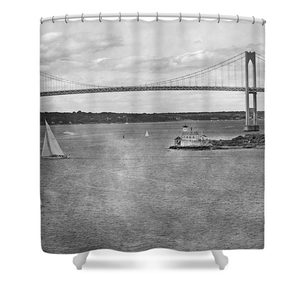 Leaving Rhode Island Shower Curtain