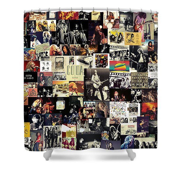 Led Zeppelin Collage Shower Curtain