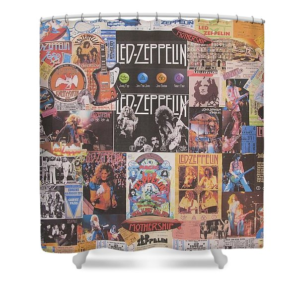 Led Zeppelin Years Collage Shower Curtain