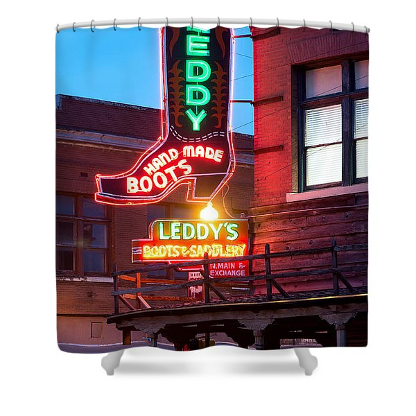 Leddy Hand Made Boots 031315 Shower Curtain
