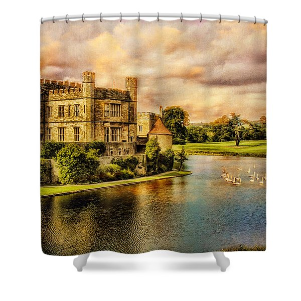 Leeds Castle Landscape Shower Curtain