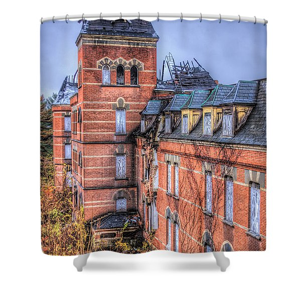 Left Standing  Shower Curtain