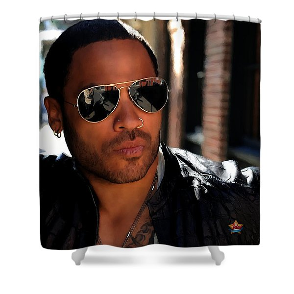 Lenny Kravitz Shower Curtain