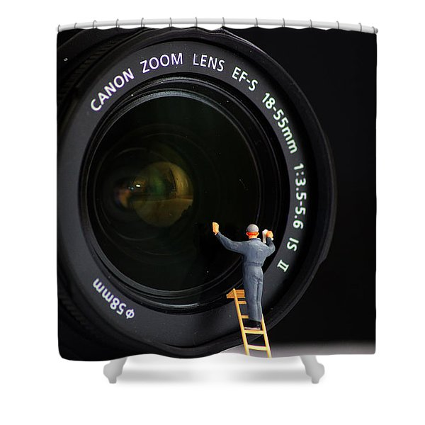 Lens Cleaner Shower Curtain