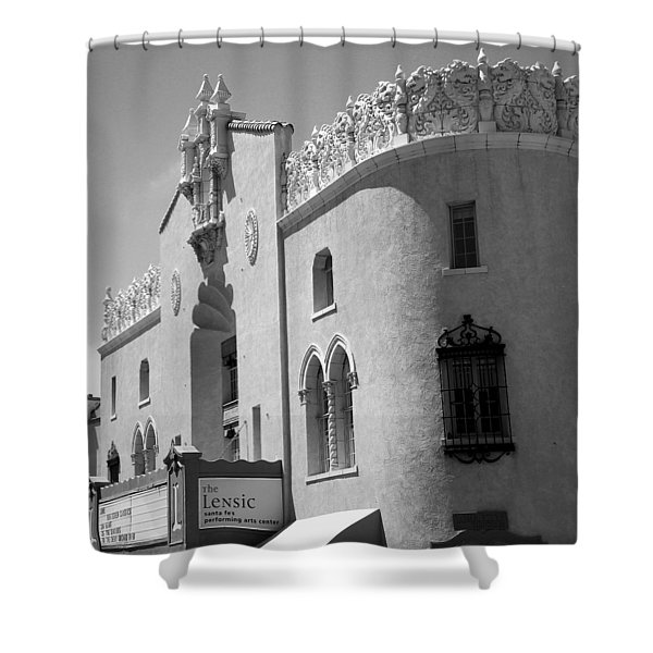 Shower Curtain featuring the photograph Lensic Bw by Jemmy Archer