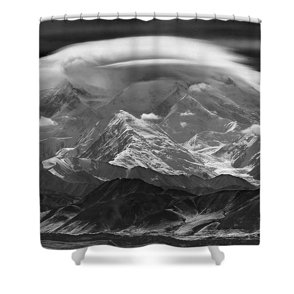 101366-lenticular Cloudcap Over Mt. Mckinley Shower Curtain