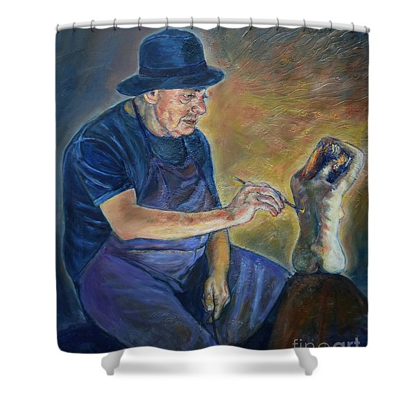 Figurative Painting Shower Curtain