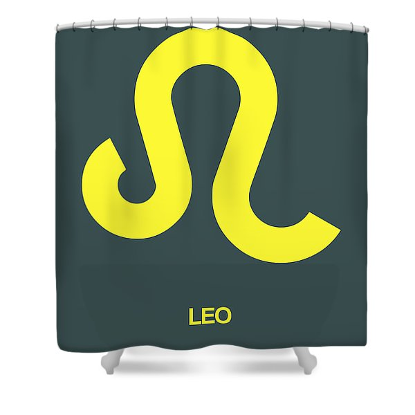 Leo Zodiac Sign Yellow Shower Curtain