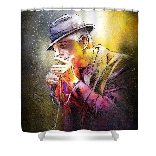 Leonard Cohen 02 Shower Curtain