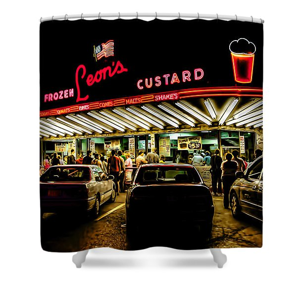 Leon's Frozen Custard Shower Curtain