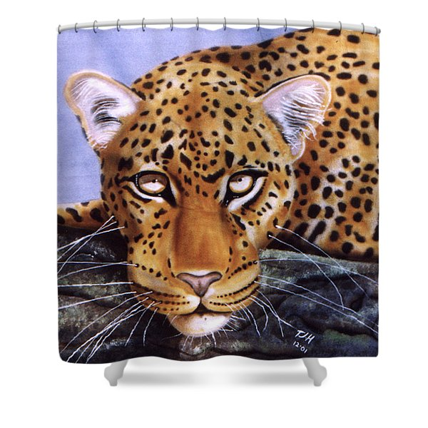 Leopard In A Tree Shower Curtain