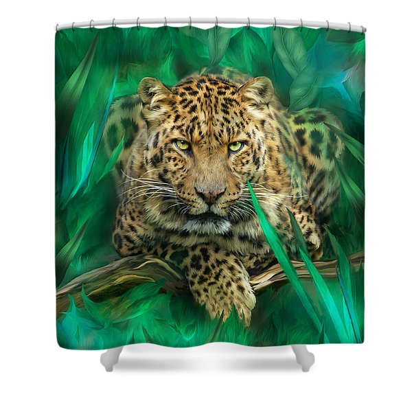 Leopard - Spirit Of Empowerment Shower Curtain