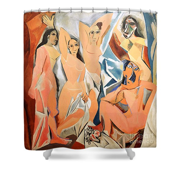 Les Demoiselles D'avignon Picasso Shower Curtain