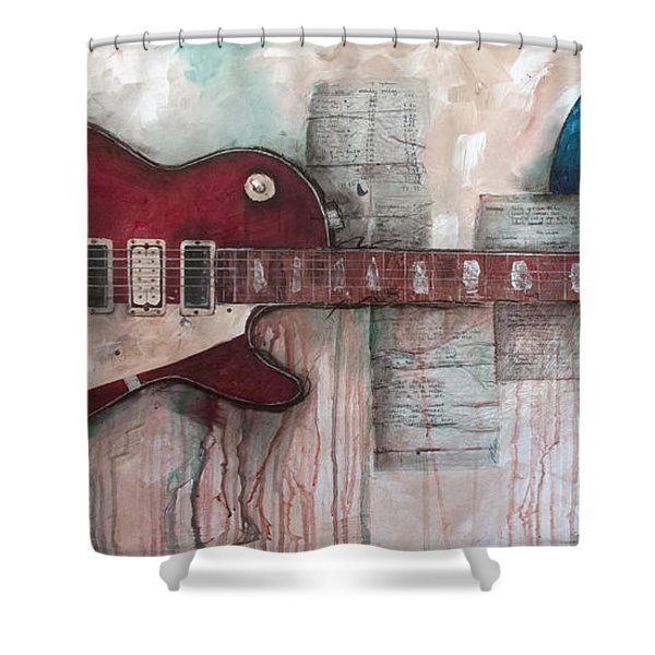 Les Paul Number 5 Shower Curtain