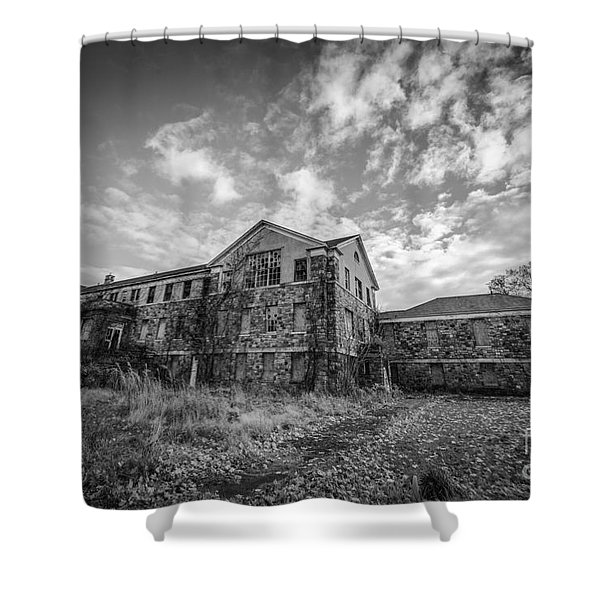 Letchworth Village Morgue Bw Shower Curtain