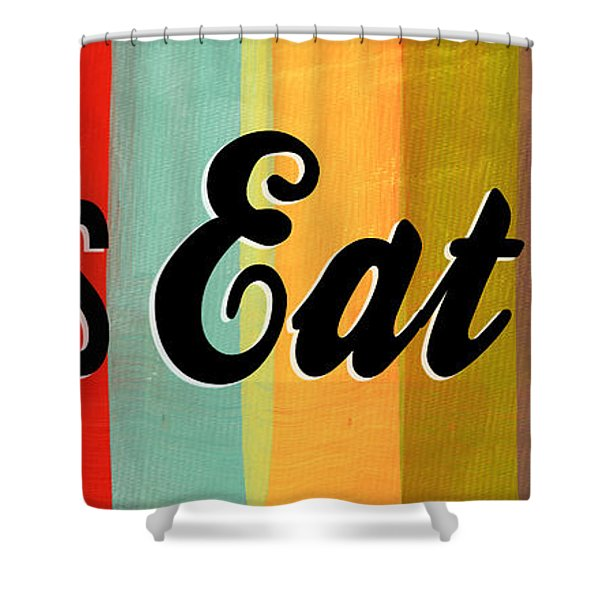 Let's Eat This Shower Curtain