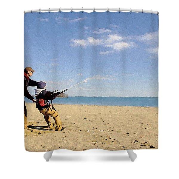 Let's Go Fly A Kite Shower Curtain