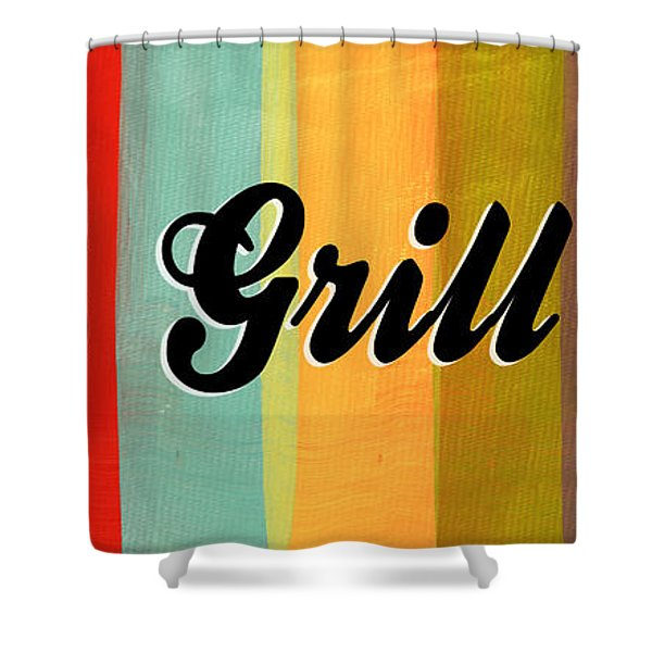 Let's Grill This Shower Curtain