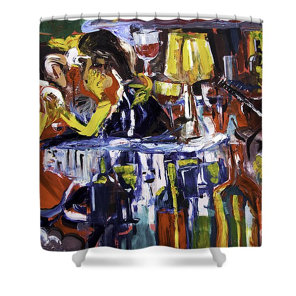 Let's Pay And Go Shower Curtain