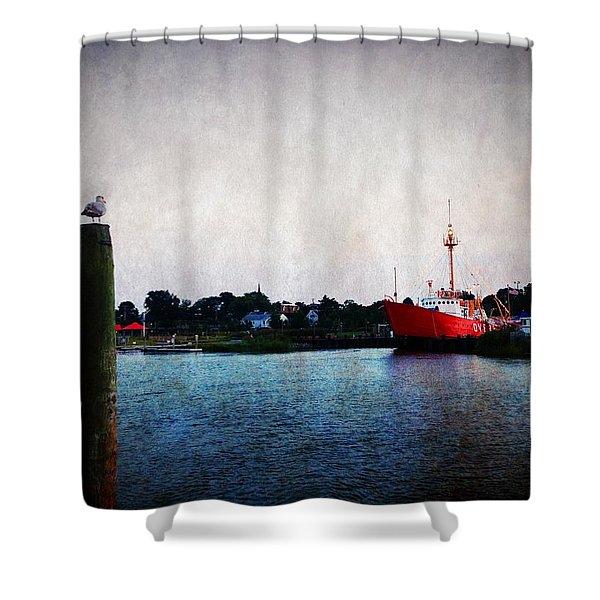 Lewes - Overfalls Lightship 2 Shower Curtain
