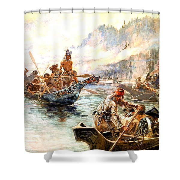 Lewis And Clark On The Lower Columbia  Shower Curtain