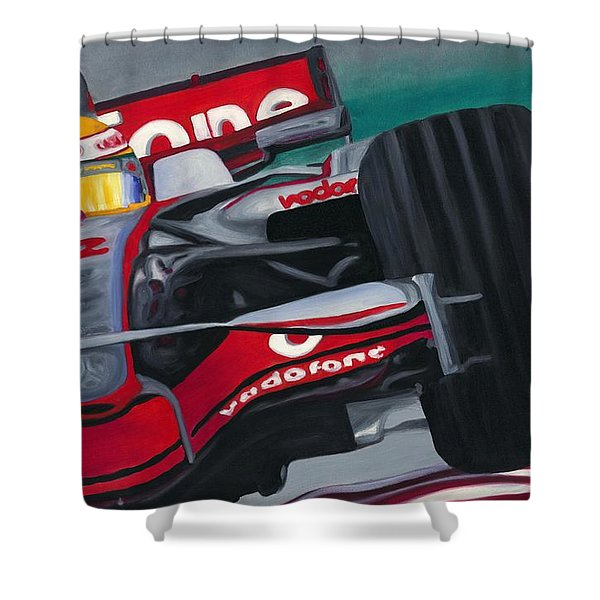 Lewis Hamilton F1 World Champion 2008 Shower Curtain