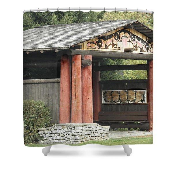Lheit-li National Burial Grounds Entranceway Shower Curtain
