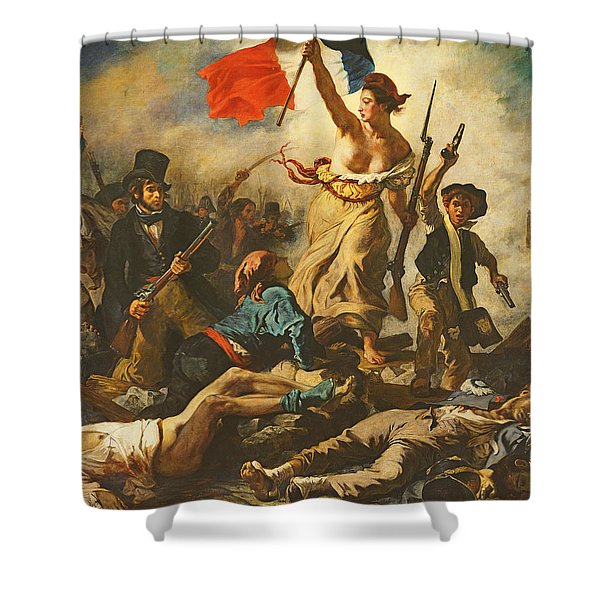 Liberty Leading The People, 28 July 1830 Shower Curtain