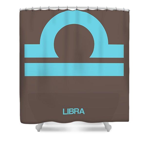 Libra Zodiac Sign Blue Shower Curtain