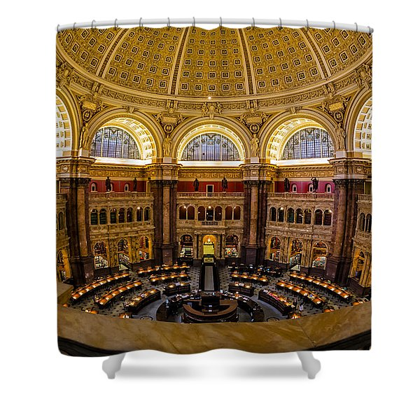 Library Of Congress Main Reading Room Shower Curtain