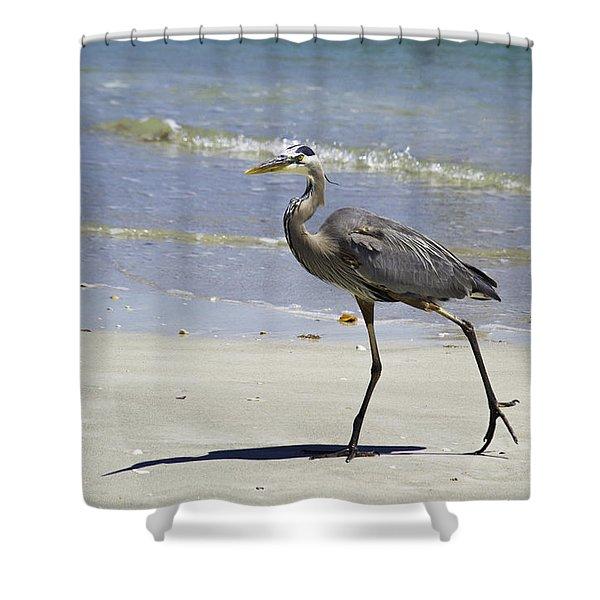 Lido Beach Blue Shower Curtain