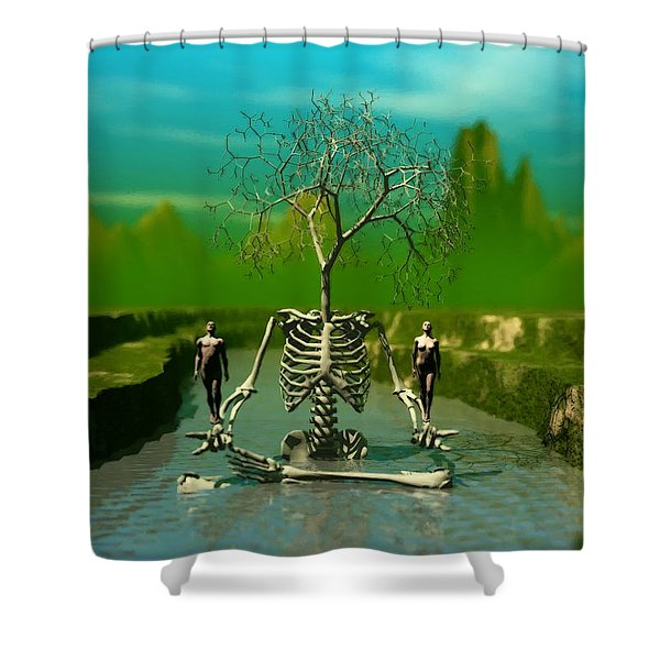Life Death And The River Of Time Shower Curtain