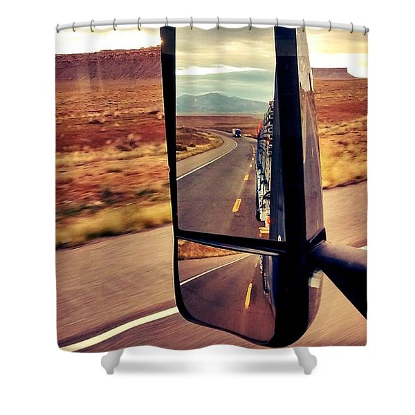 Life In My Rearview Mirror Shower Curtain