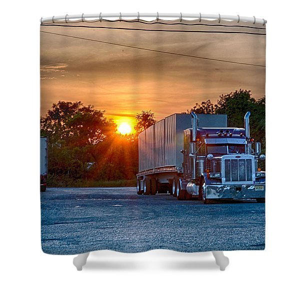 Life Of A Trucker Shower Curtain