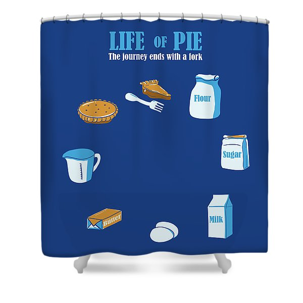 Life Of Pie Shower Curtain